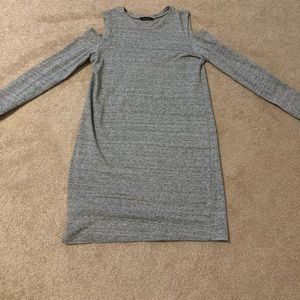 Zara grey dress with shoulder cut outs